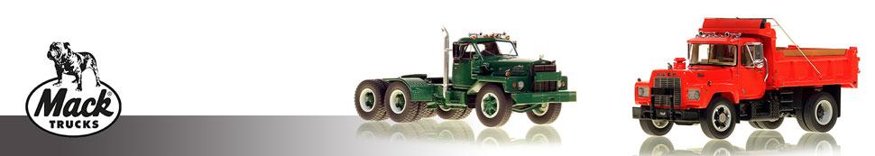 Museum grade 1:50 scale models of Classic Mack Trucks