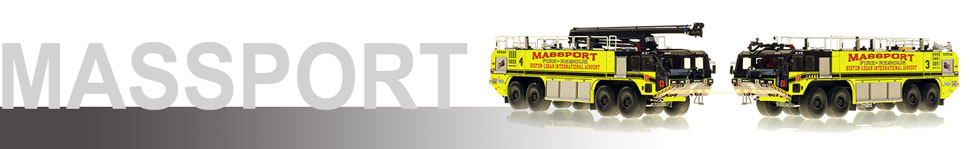 Massport Fire-Rescue scale models serving Boston-Logan International Airport