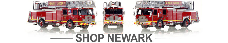 Shop scale model fire trucks from Newark NJ Fire Department