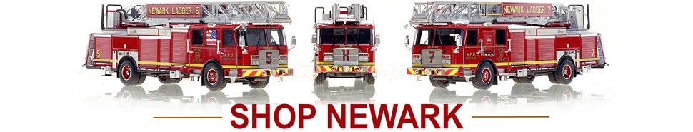 Shop scale model fire trucks from Newark NJ Fire Department