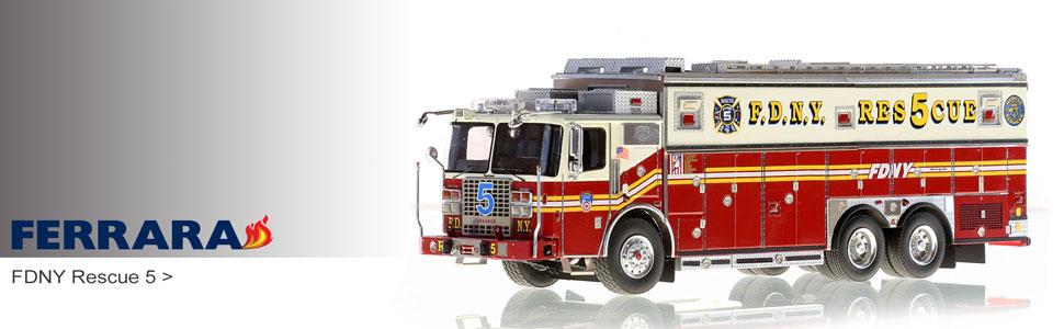 1:50 scale Ferrara fire truck models