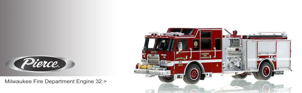 1:50 Pierce Manufacturing scale model fire trucks