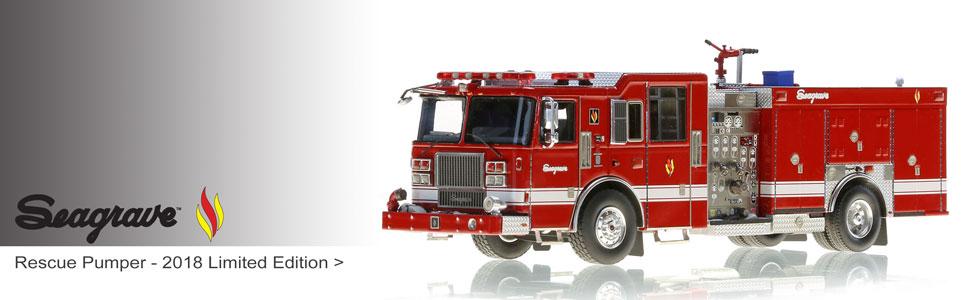 Seagrave scale model fire trucks
