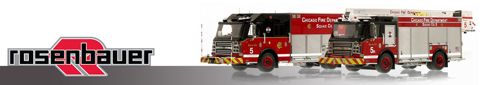 Shop museum grade Rosenbauer scale model fire trucks