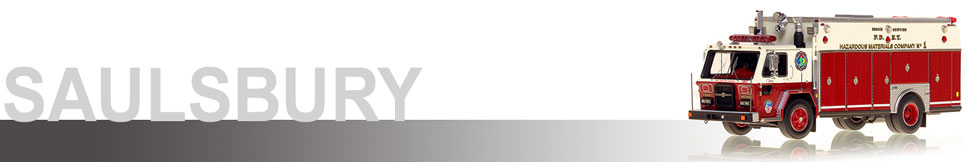 Saulsbury scale model fire trucks by Fire Replicas