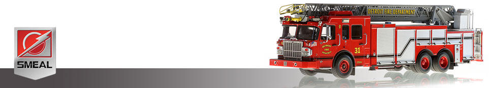 Shop scale models of Smeal fire apparatus