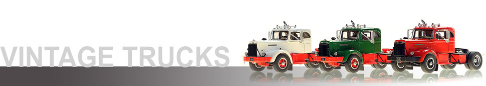 Shop Vintage semi truck models including the 1953 Autocar DC-75