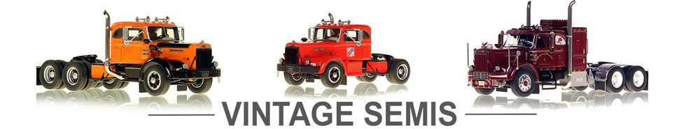 Shop scale models of Vintage Semi Trucks
