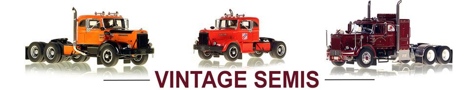 Shop scale models of Vintage Semi Trucks