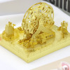 Amusement Park Ferris Wheel Module Gold Metal Model Kit [Includes LEDs & Battery] | MU Model