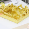 Amusement Park Bumper Car Module Gold Metal Model Kit [Includes LEDs & Battery] | MU Model