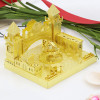 Amusement Park Fantastic Castle Module Gold Metal Model Kit [Includes LEDs & Battery] | MU Model