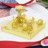 Amusement Park Skydeck Module Gold Metal Model Kit [Includes LEDs & Battery]   MU Model