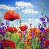 Wildflowers 202 Piece Medium Wooden Jigsaw Puzzle | Zen Puzzles