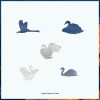 White Swan 126 Piece Small Wooden Jigsaw Puzzle   Zen Puzzles
