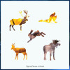 Red Deer at Dawn 49 Piece Teaser Wooden Jigsaw Puzzle | Zen Puzzles