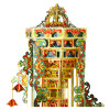 Tower of Babel Music Box Metal Model Kit [Includes LED, Battery, & Music Mechanism] | MU Model