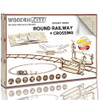 Round Railway & Crossing Wooden Model Kit | Wooden City