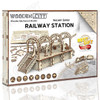 Railway Station Wooden Model Kit   Wooden City