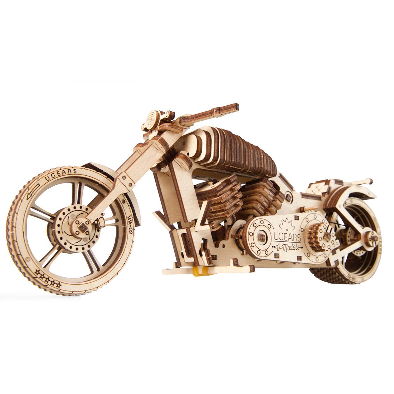 Bike VM-02 Mechanical Wooden Model Motorcycle Kit   UGears
