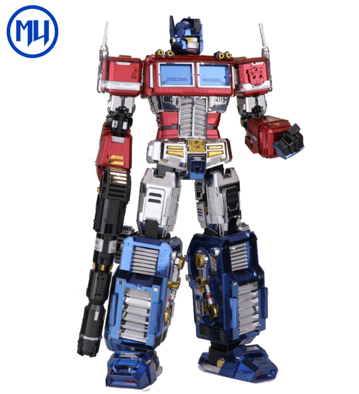 Transformers G1 Optimus Prime Full Color Diy Metal Model Kit Mu Model