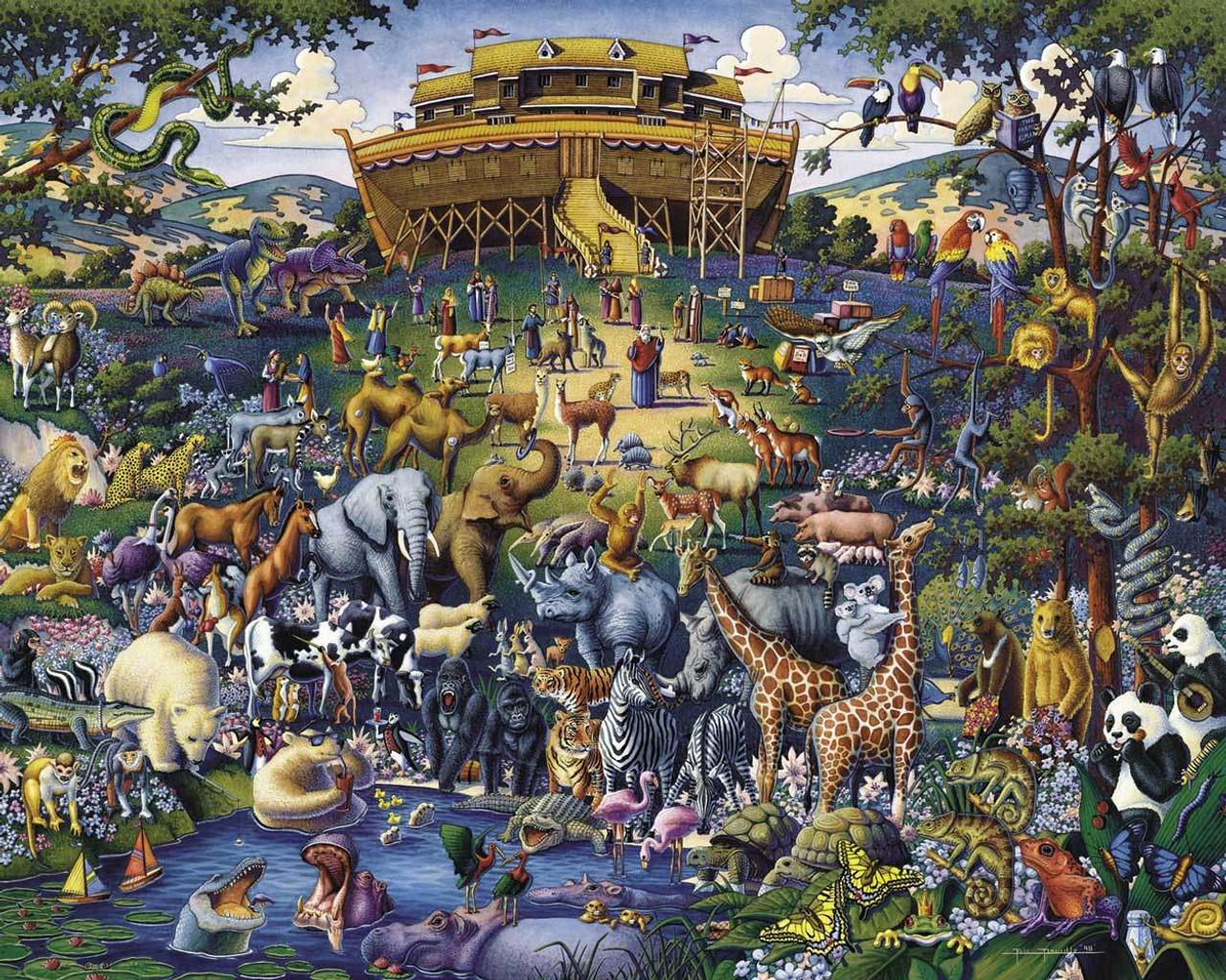 Noah's Ark: 300 Piece Classic Wooden Jigsaw Puzzle | Dowdle Puzzles