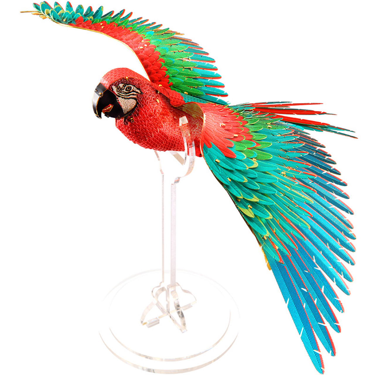Scarlet Macaw Metal Model Kit Piececool Tri M Specialty Products