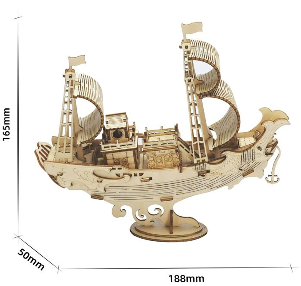 Japanese Diplomatic Ship Wooden Model Kit | Rolife - Tri-M Specialty  Products