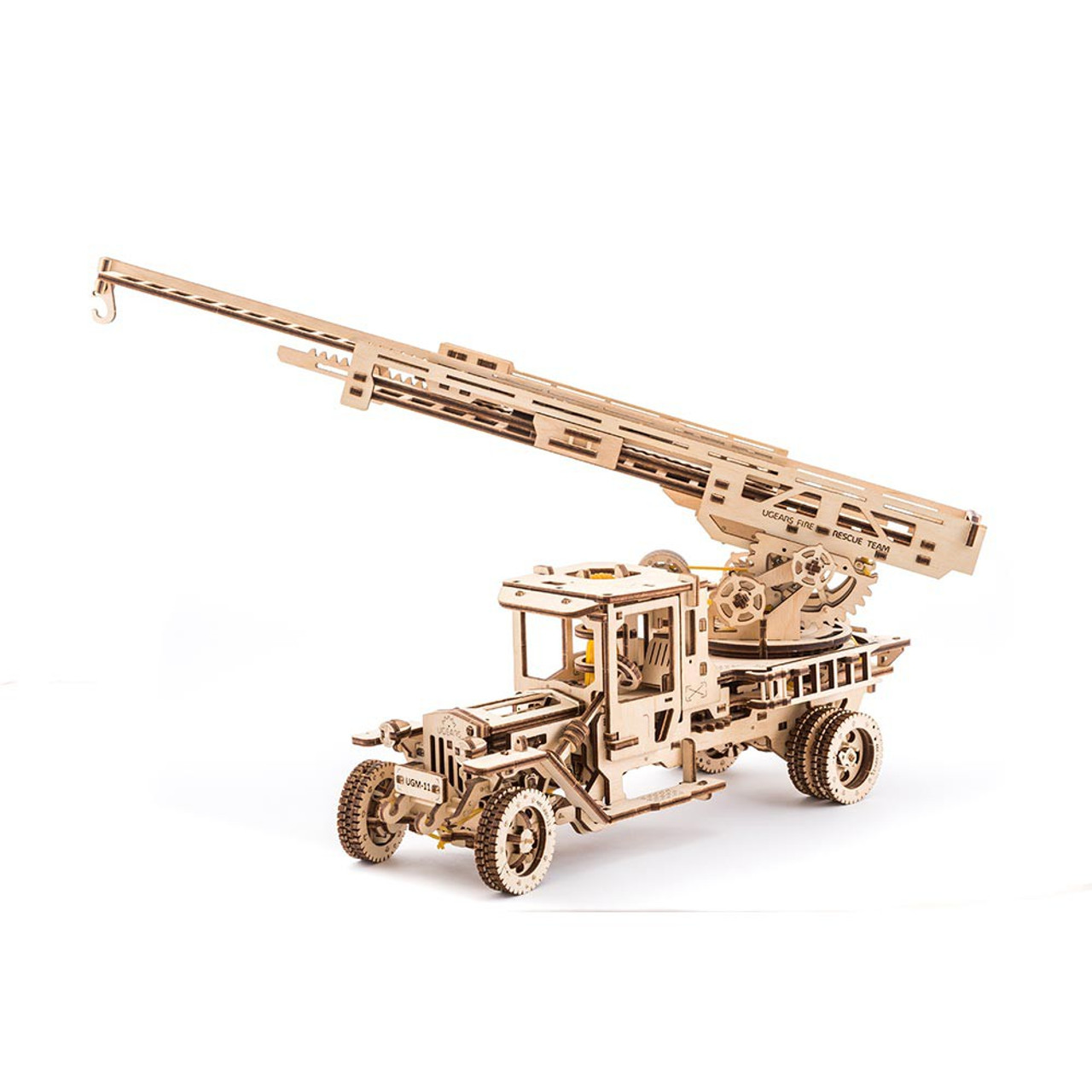 Fire Ladder Truck Mechanical Wooden Model   UGears
