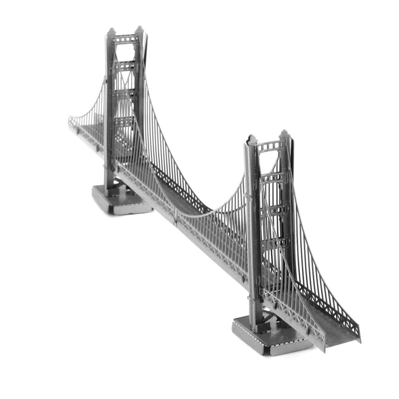 Metal Earth SAN FRANCISCO GOLDEN GATE BRIDGE in GOLD 3D Puzzle Micro Model