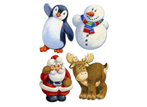 Christmas Friends, 4 x 25 Pieces Mini Wentworth Wooden Jigsaw Puzzles