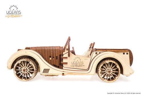Roadster VM-01 Mechanical Wooden Model Sports Car Kit | UGears