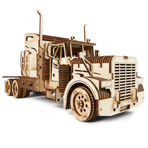 Heavy Boy Truck VM-03 Mechanical Wooden Model Long Hauler 18 Wheel Truck | UGears