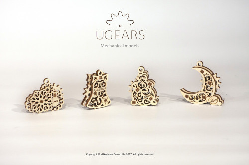 U-Fidget Gearsmas Mechanical Wooden Model Fidget Toys | UGears