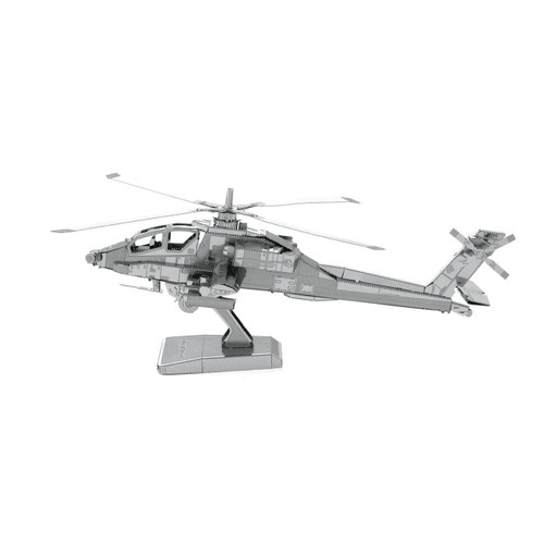 AH-64 Apache Helicopter Metal Earth Model
