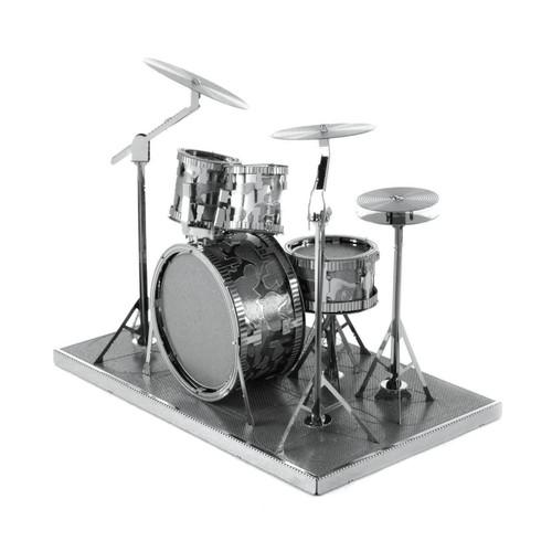 Drum Set Metal Earth Model