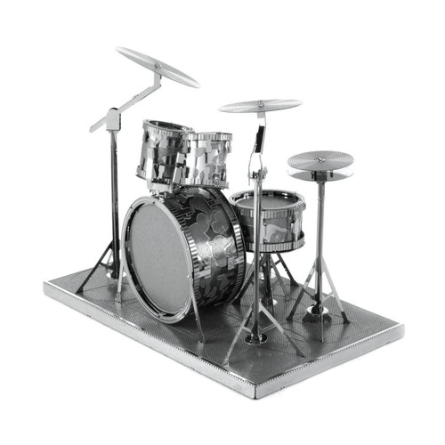 Drum Set Metal Earth Model