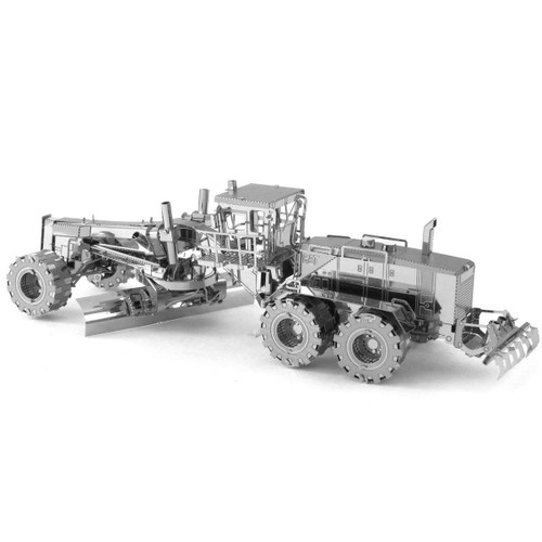 CAT Motor Grader Metal Earth Model