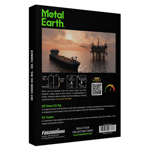 Offshore Oil Rig & Oil Tanker Gift Set - Metal Earth Models
