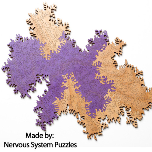 Infinity Double Puzzle Purple & Natural Wood 102 Pieces, By Nervous System