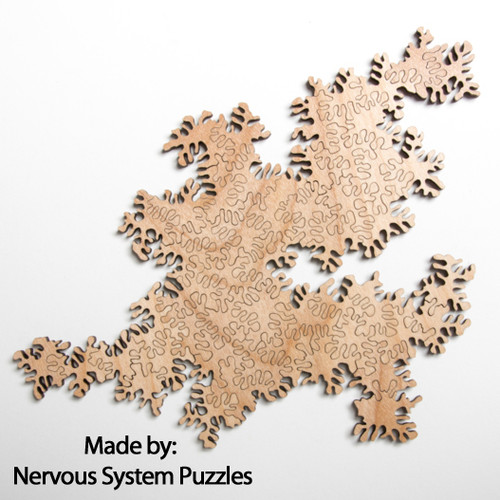 Infinity Puzzle Natural Wood 51 Pieces, By Nervous System