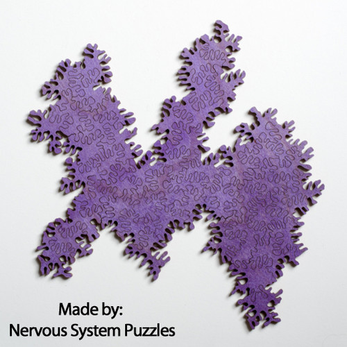 Infinity Puzzle Purple Wood 51 Pieces, By Nervous System