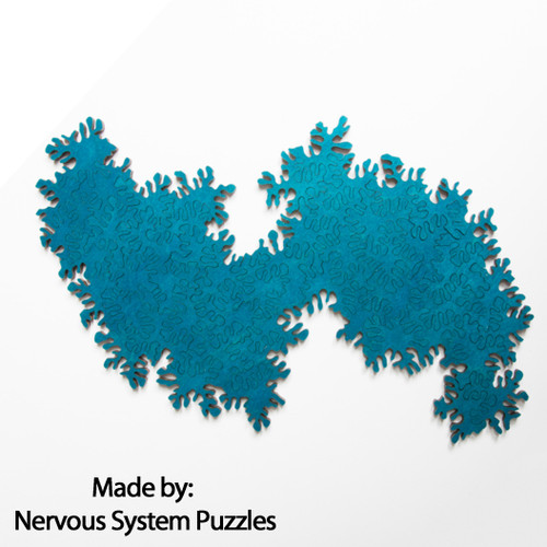 Infinity Puzzle Turquoise Wood 51 Pieces, By Nervous System