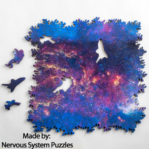 """Infinite Galaxy"" *Double-Side, Extra Difficult* 139 Piece Wooden Jigsaw Puzzle 