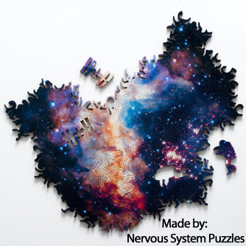 Infinite Galaxy 2 Wooden Puzzle 236 Pieces, 11 x 7 Inch | Nervous System