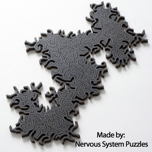 Maze Infinity Wooden Black, 63 Pieces, By Nervous System