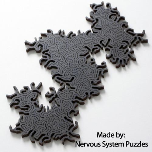 """Maze Infinity Wooden Black"" 63 Pieces | Nervous System"