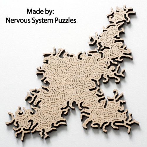 Maze Infinity Wooden Natural, 63 Pieces, By Nervous System