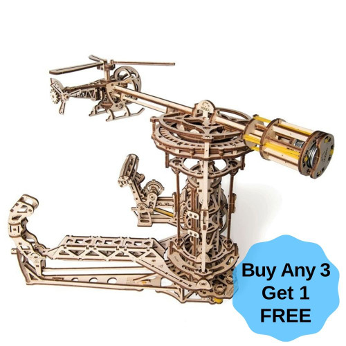 Aviator Mechanical Wooden Model | UGears