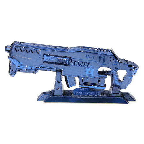 Gauss Rifle, Blue - DIY Metal Model Kit | MU Model